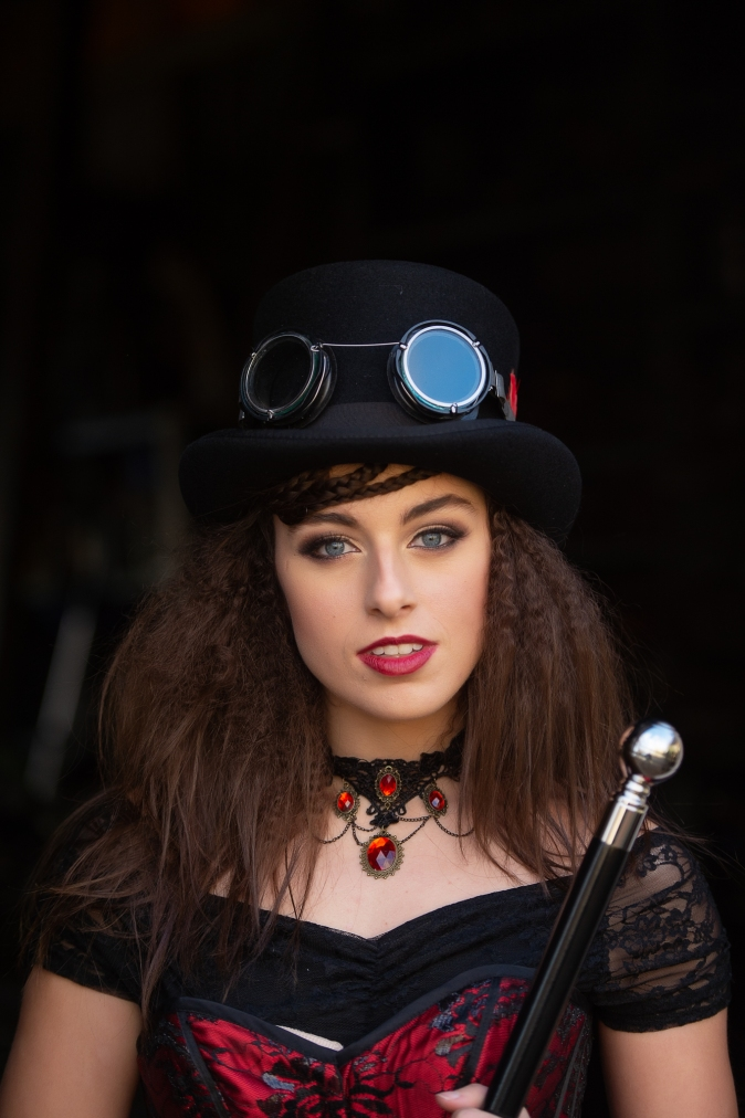 Steampunk gallery serpentine fashion shoot